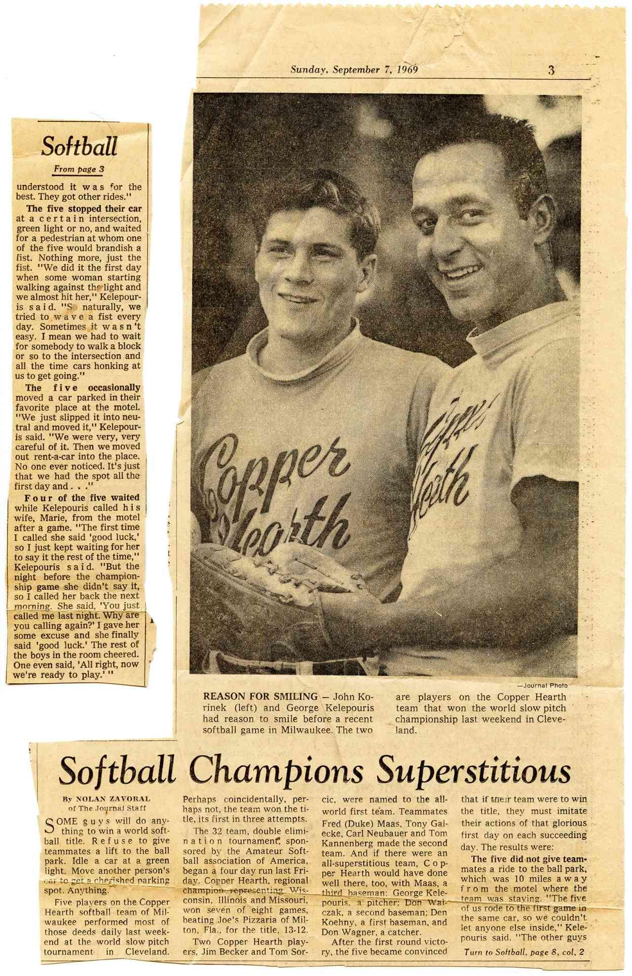1969 Softball History Usa